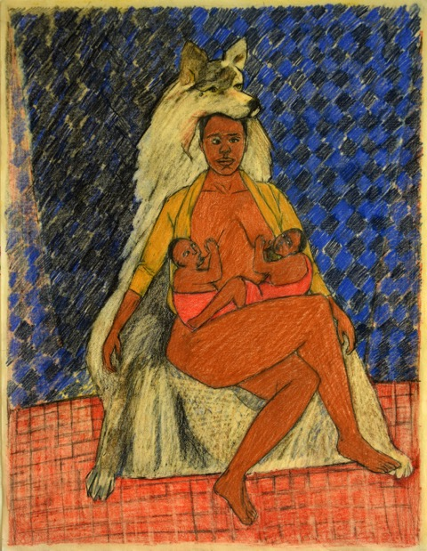 Mequitta Ahuja, Lupa II, Colored Pencil on Paper, 22inX17in, 2014 (1)