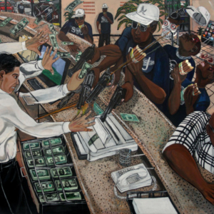 El Franco Lee, Karma, acrylic on canvas, 2013, acrylic on canvas, 1 x 56 x 72 inches