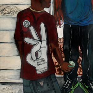 El Franco Lee, 97 Live, 2013, acrylic on canvas, 1 x 36 x 48 inches