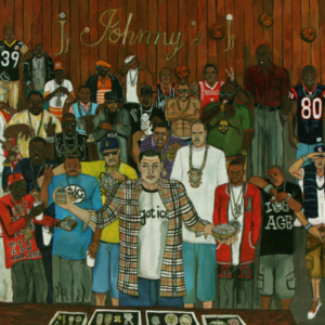 El Franco Lee, King Johnny, 2009, acrylic on canvas, 1 x 36 x 48 inches