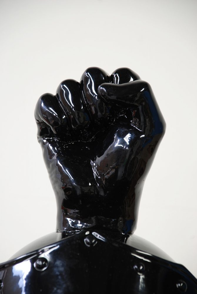 Ian Weaver, Black Power Helmet (detail), 2009