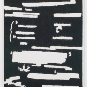 Jamal Cyrus, Cultr-Ops on Wax, 2015, black wax crayon on paper, 44 x 30 inches