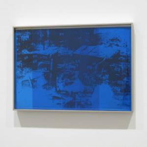 Jamal Cyrus,Pharoah's Den, 2011, Mylar over digital print on hardboard, 14 x 20 inches framed
