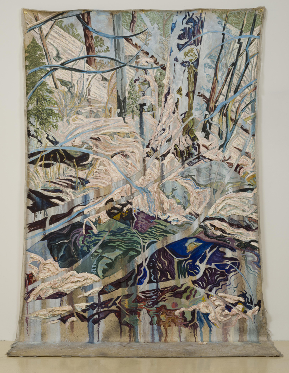 Nick Brown, Gloaming, 2014, oil on canvas, 96 x 72 x 20 inches