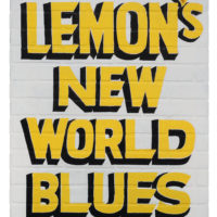 Jamal Cyrus, Lemon's New World Blues, 2014, latex on masonite, 40 1/4 x 30 1/2 inches