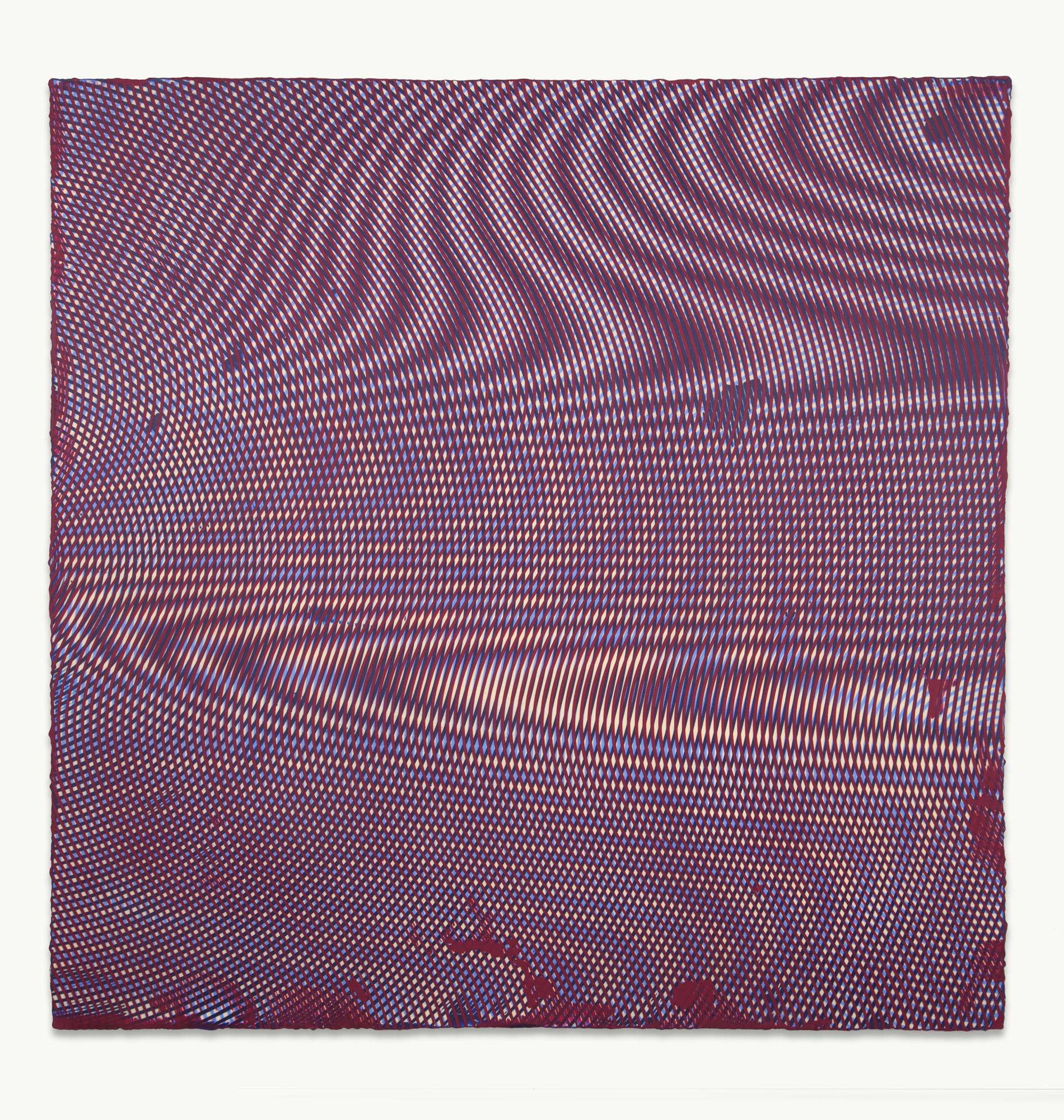 Anoka Faruqee, 2013P-85, 2013, acrylic on linen on panel, 45 x 45 inches