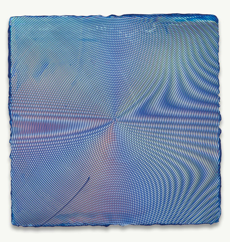 Anoka Faruqee, 2014P-23, 2014, acrylic on linen on panel, 22 1/2 x 22 1/2 inches
