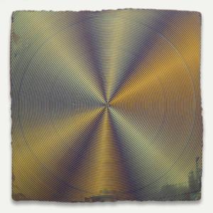Anoka Faruqee, 2014P-24 (Circle), 2014, acrylic on linen on panel, 22 1/2 x 22 1/2 inches