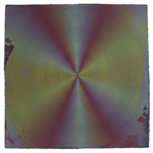 Anoka Faruqee, 2014P-53 (Circle), 2014, acrylic on linen on panel, 45 x 45 inches