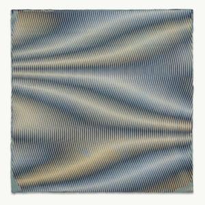 Anoka Faruqee, 2013P-79 (Wave), 2013, acrylic on linen on panel, 33 3/4 x 33 3/4 inches
