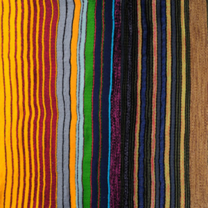 """Anne Wilson, Local Industry Cloth (detail), 2011, Donated mill fiber, 909"""" x 24"""""""