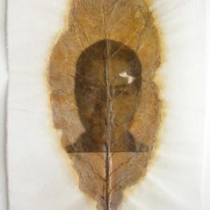 Accra Shepp, Leonardo (Douglas GA), 2007, photo emulsion on tobacco leaf, 33 x 19 inches