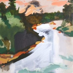 Andreas Fischer, River Portrait, 2010, oil and acrylic on canvas, 25 x 22 inches