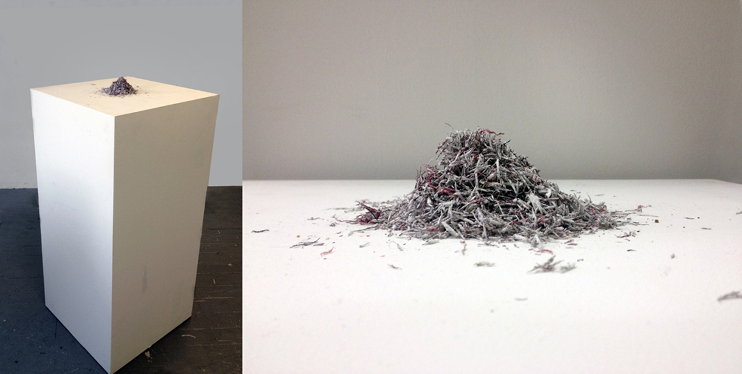 Bethany Collins, Colorblind Dictionary, 2013-2014, found book with color terms erased, 10 x 6 inches