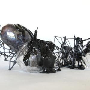Christine Tarkowski, Black Glass 1-13, 2015, Glass, steel, variable dimensions