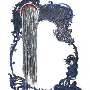 Carol Jackson, Blehh, 2012 leather, brass, enamel, 9 x 7 feet