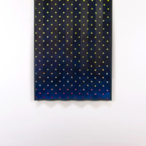Dan Gunn, Paramount No. 2, 2013, oil and dye on MDF with wood, 37 x 56 inches