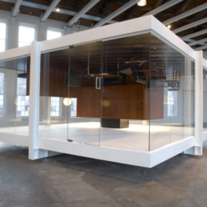 Iñigo Manglano-Ovalle, Gravity is a Force to be Reckoned With, 2009 mixed media 25 x 25 feet; 7.62 x 7.62 m, Installation view at Mass MOCA, 2009