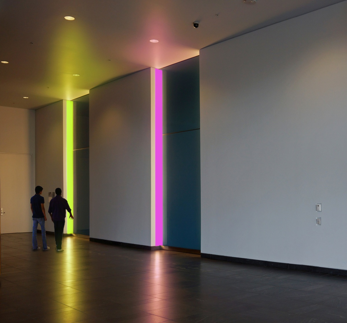 JD Beltran, Color of a Color , 2014, interactive public art installation, 4 x 18 inches (each panel)