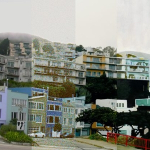 JD Beltran, Untitled (San Francisco), Material Language Series, 2011, mixed media (painting, high definition video, Super-8 film, photography), 44 x 48 inches