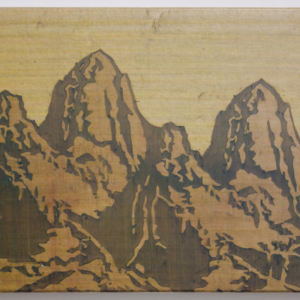 """Jang Soon Im, Landscape Study (2 Patagonias), 2015, Pigment and hide glue on mulberry paper, 18"""" x 14"""""""