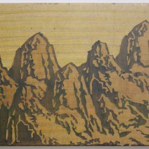 """Jang Soon Im, Landscape study (3 Patagonias), 2015, Pigment and hide glue on mulberry paper, 18"""" x 14"""""""