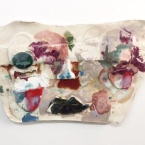 Jennie Jieun Lee, Betsy, glazed stoneware, 2015, 12 x 16 x 1 inches