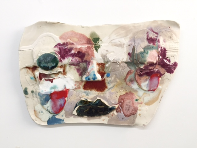 Jennie Jieun Lee, Betsy, glazed stoneware, 2015, 12 x 16 x 1 inches