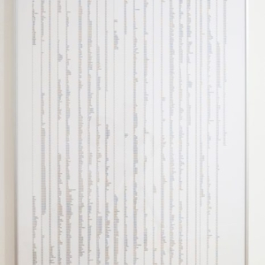 Jeanne Friscia, Wall (2002), 2014, duratrans/lightbox, 60 x 40 inches, installed at Haines Gallery, SF