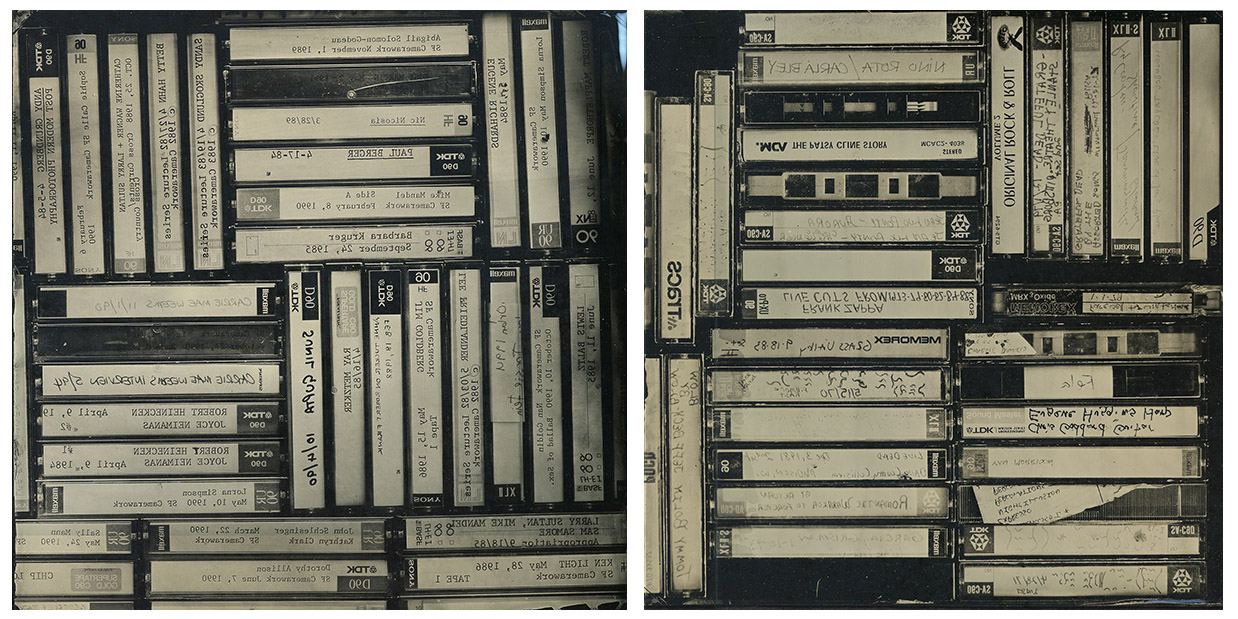Jeanne Friscia, Untitled (photography and music), 2014, ambrotype (two 10 x 10 inch plates) 10 x 20 inches