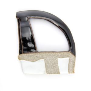 Katy Fischer, Shard (detail), 2015, glazed high fire ceramics, 6 x 6 inches