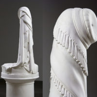 Lily Cox-Richard, The Stand: Greek Slave, 2013, carved plaster, 66 x 33 x 33 inches
