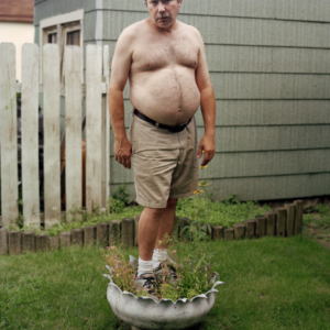 Lisa Lindvay, My Dad Standing in the Flower Pot