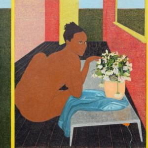 "Mequitta Ahuja, Fingering Vanitas, 2015, oil on canvas, 84"" x 80"""