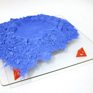 Heather Mekkelson, Blue Crater No.5, 2013-2014, line chalk, glass, plastic, 24 x 24 x 7 inches