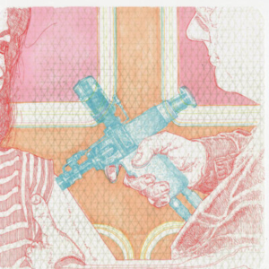 Jason Kofke, Inoculation, 2011, pen and xylene marker on graph paper, 8 x 8 inches