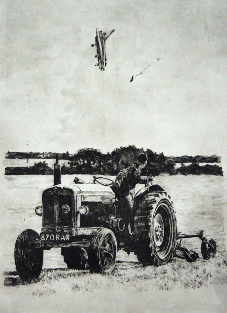 Jason Kofke, Age of Mechanized Agriculture, 2014, direct gravure print from graphite on mylar rendering, 30 x 22 inches