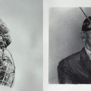Jason Kofke, Audio-Video, 2014, graphite on toned paper, 9 x 25 inches