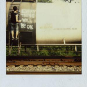 Jason Kofke, Everything Will Be OK, 2008, Polaroid documentation of installation, 3 x 4 inches