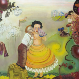 Phyllis Bramson, The Secret Life of People Who Care, 2010, mixed media, oil on canvas, 60 x 70 inches