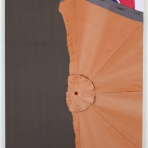 Joe Fyfe, Brando, 2014, fabric and found materials, 80 x 68 1/2 inches