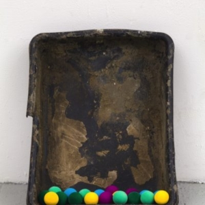 Joe Fyfe, Herod, 2014, found object & painted Styrofoam, 24 x 20 x 8 inches