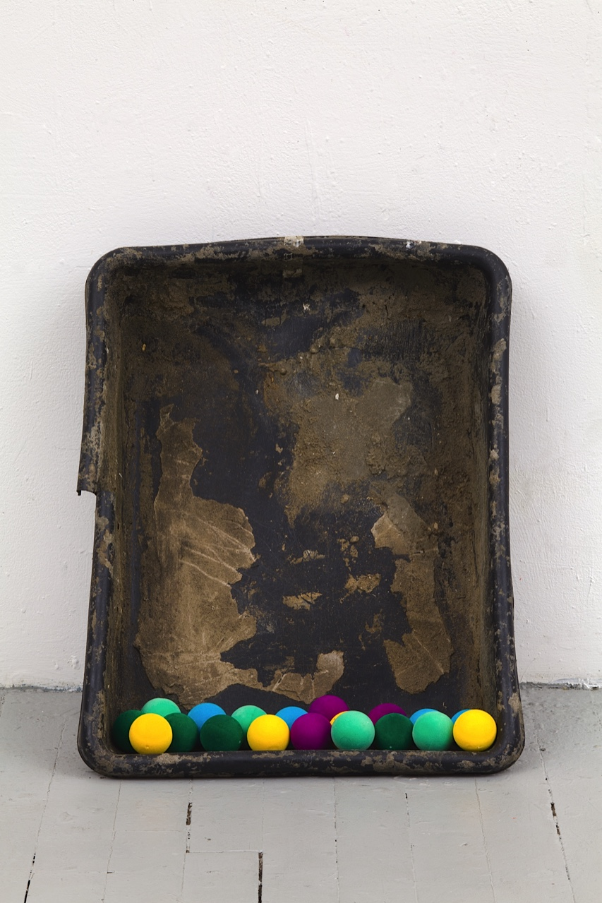 Joe Fyfe, Herod, 2014, found object & painted Styrofoam, 24 x 20 x 8 inches