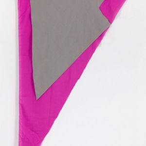 Joe Fyfe, Harold's Triangle, 2014, wood, cotton, and felt, 75 x 52 inches