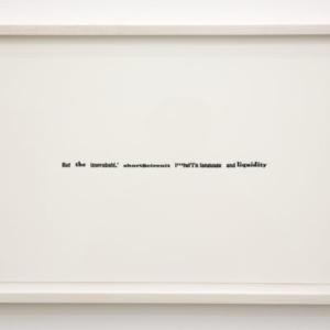 Sara Magenheimer, But the improbahl,'short$circuit_l''''twl'nlanguageandliquidity, 2014, letterpress, 12 x 19 inches