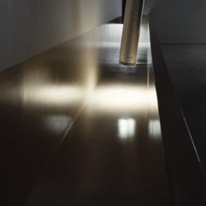 Bill Jenkins, Wet Light (cistern), 2014, wood, paint, sheetrock, 4 x 37 x 3 feet