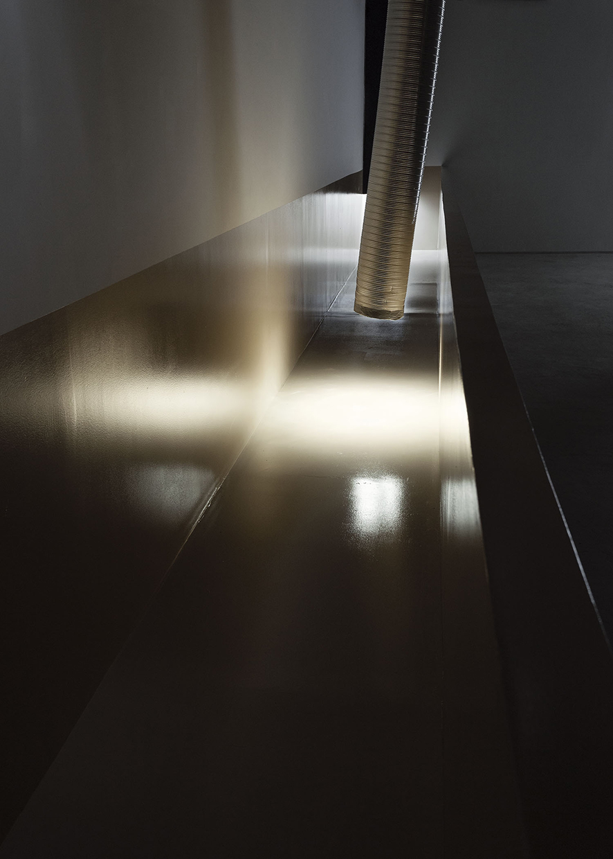 Bill Jenkins, Wet Light (cistern), 2014, wood, paint, sheetrock, 4 x 37 x 3 feet