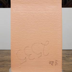 Park McArthur, Polyurethane Foam , 2014, Polyurethane foam, plastic, 82 x 49 x 24 inches