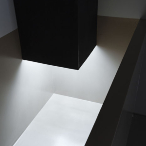 Bill Jenkins, Wet Light (duct), 2014, cardboard, mylar, paint, 10 x 2 x 2 feet