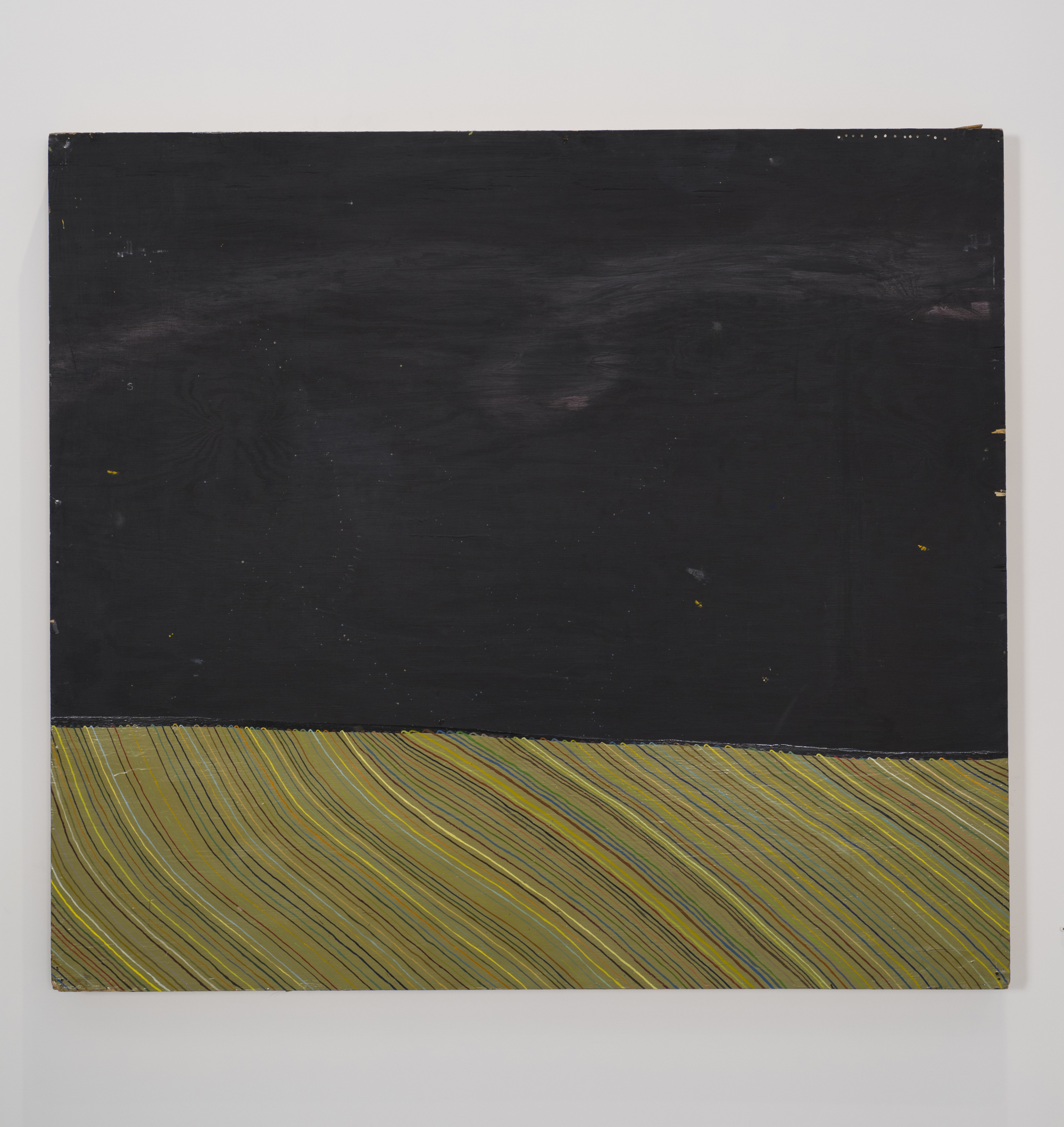 Alicia McCarthy, Untitled, 2001, house paint and gouache on found wood, 48 x 53 1/2 x 1 1/2 inches